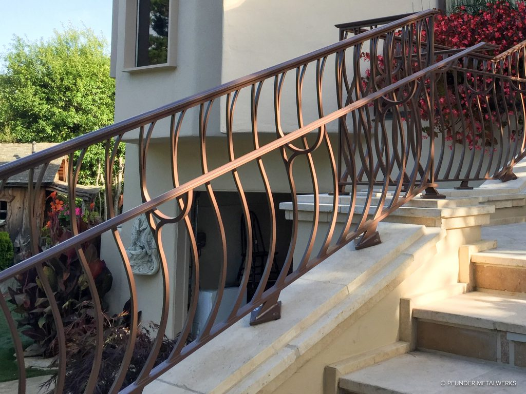 Carmel railing inside detail