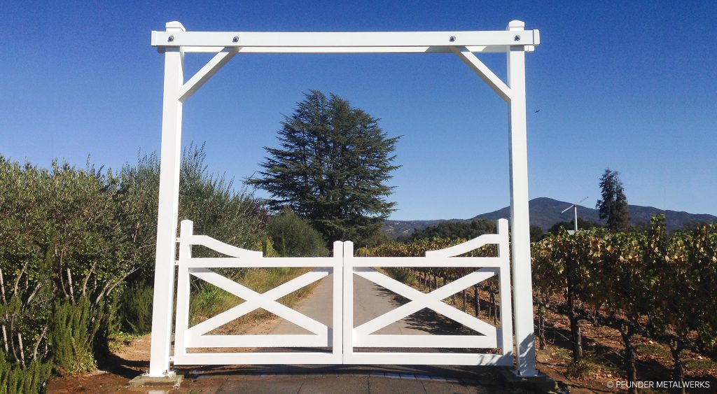 Napa Valley farm gate and arbor