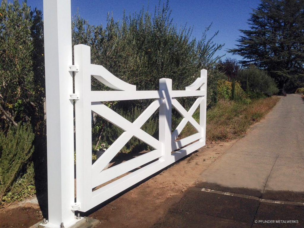 Napa farm gate open