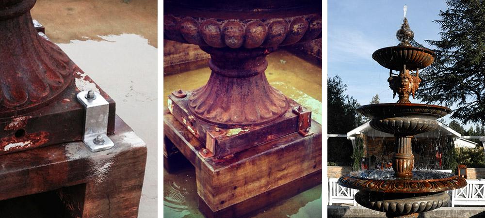 Vintage Italian water fountain brackets