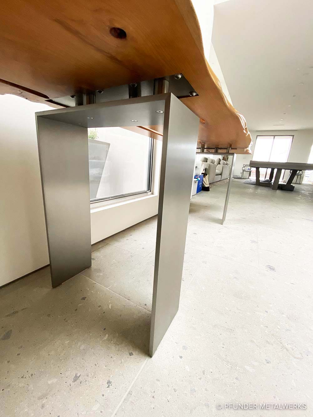 Modern stainless steel legs