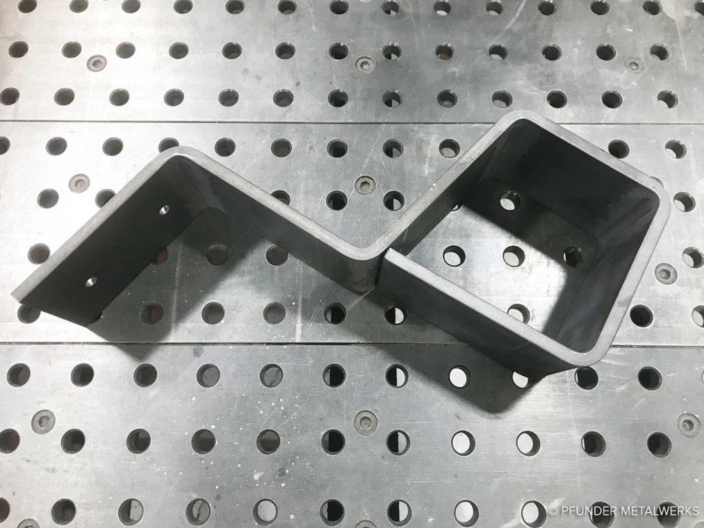Bent steel sample 2