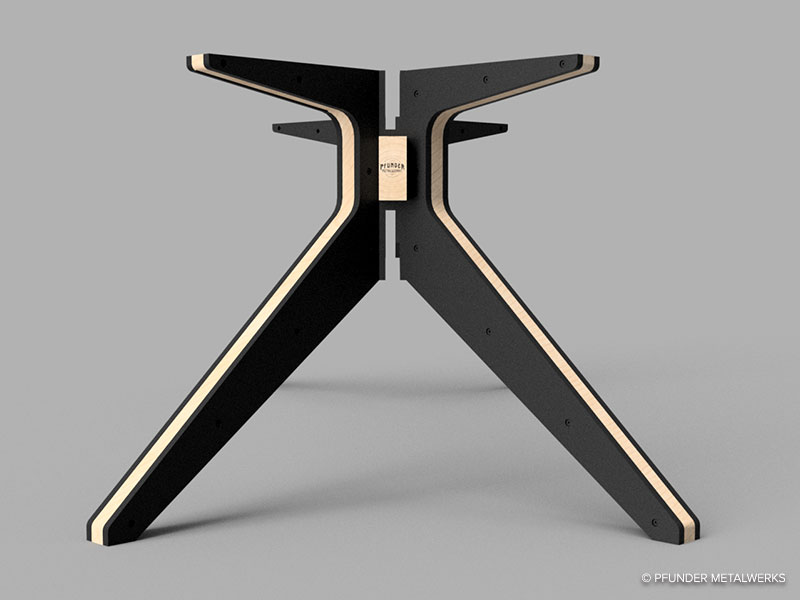 Table base 3D rendering