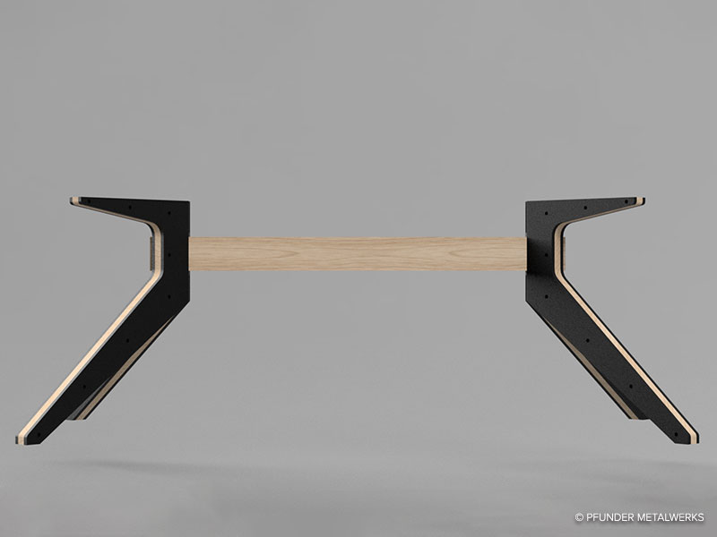 Table base 3D rendering, side view